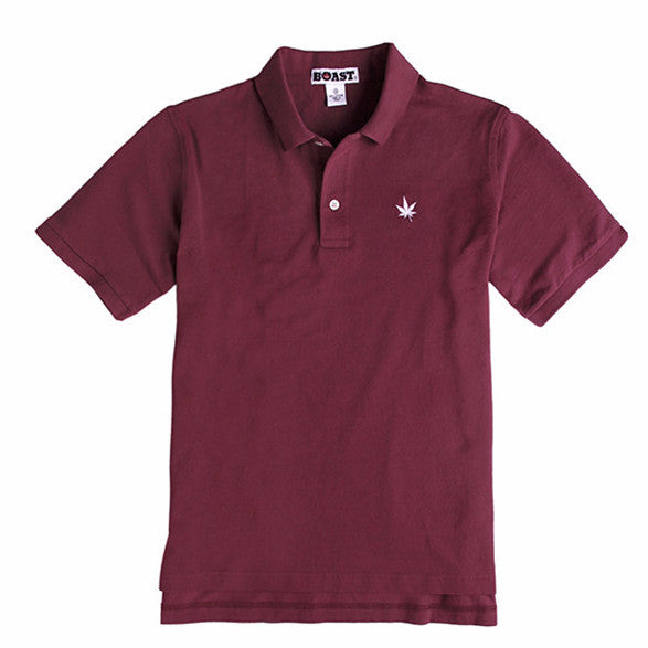 Classic Solid Pique Polo - Burgundy