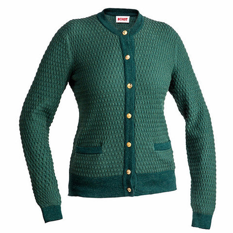 Crewneck Cardigan - Green