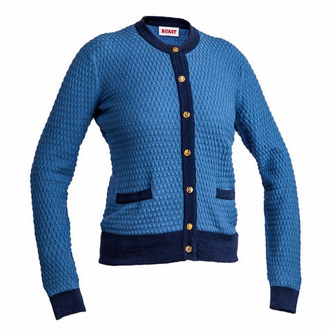 Crewneck Cardigan - Blue