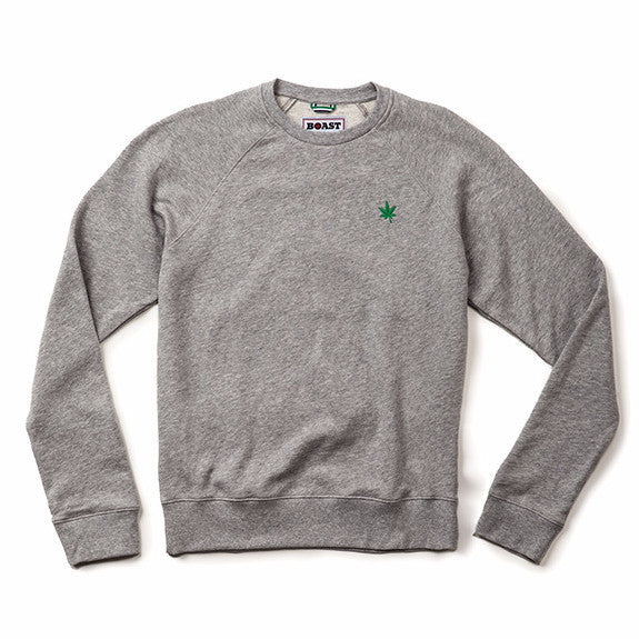 Crewneck Heather Sweatshirt - Heather Grey
