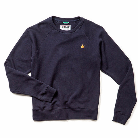 Crewneck Heather Sweatshirt - Navy