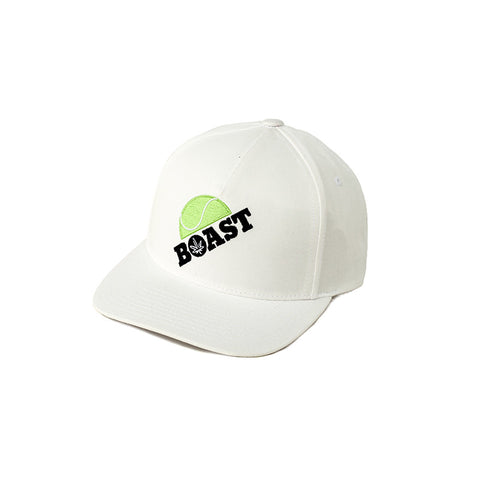 Half Ball Baseball Hat in White