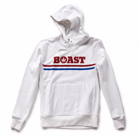 Long Sleeve Hoodie Fleece Sweatshirt - White