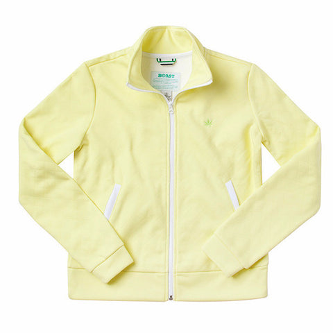 Women's Quilted Bomber Jacket - Sunny Lime