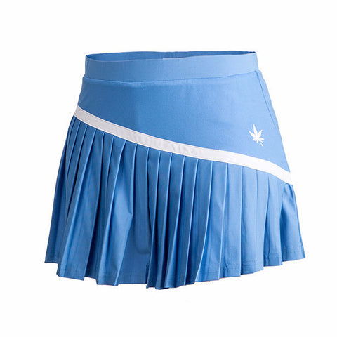 Skinny Pleat Tennis Skirt - Carolina Blue