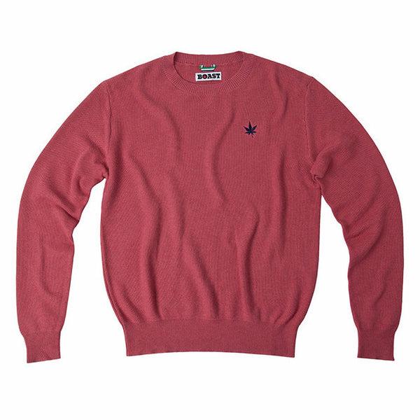 Solid Cotton-Cashmere Crewneck Sweater - Pink