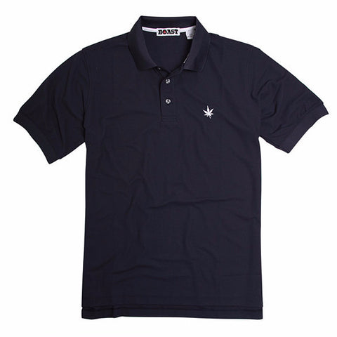 Solid Court Polo - Navy