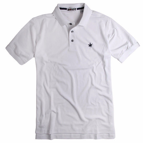 Solid Court Polo - White