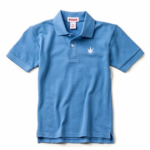 Boy's Solid Pique Polo - Carolina Blue
