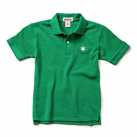Boy's Solid Pique Polo - Kelly Green