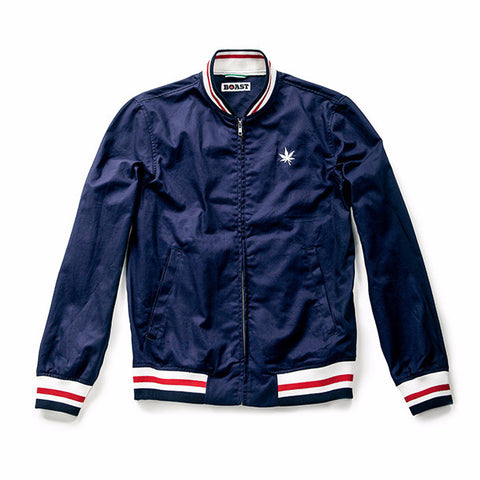 Solid Twill Court Jacket - Navy