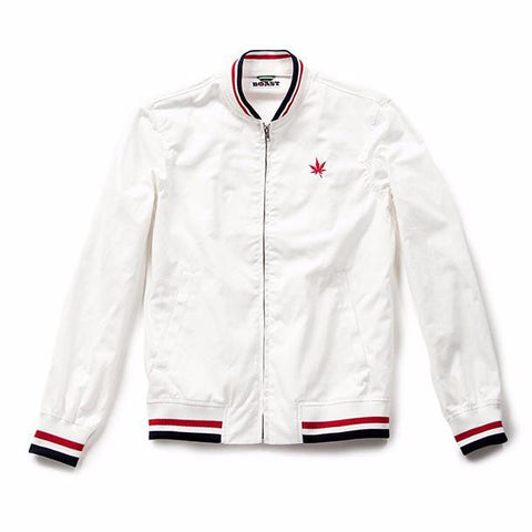 Solid Twill Court Jacket - White