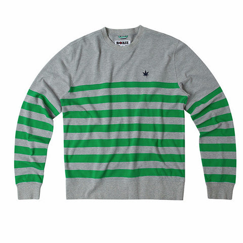 Striped Bottom Crewneck Sweatshirt - Grey