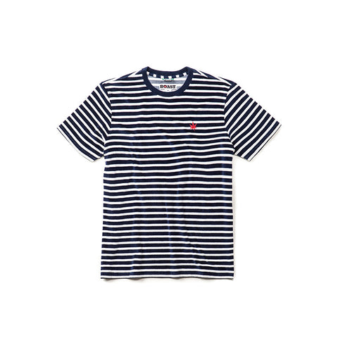 Striped Terry Crewneck Tee