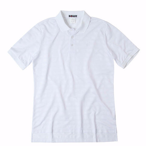 Texture Stripe Polo - White