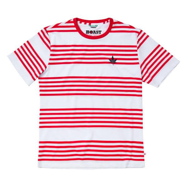 Men's Logo Stripe Court Crew - Red
