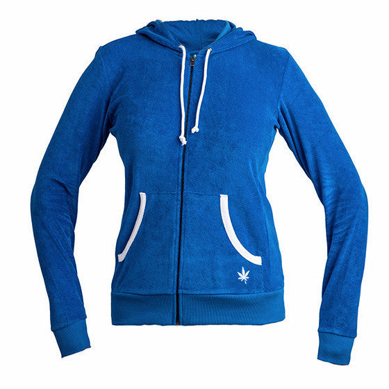 Womens Zip Hoodie Sweatshirt - Royal Blue
