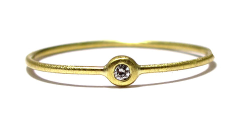 Thin Gold & Diamond Stacking Ring