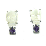Skull Earrings: Purple