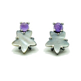 Star Earrings: Amethyst