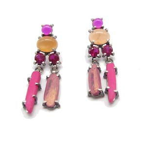 Pink Double Dangle Earrings