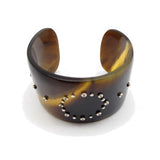 Horn Cuff Bracelet with Yellow Sapphires