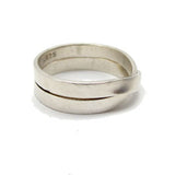 Flat Silver Double Wrap Ring