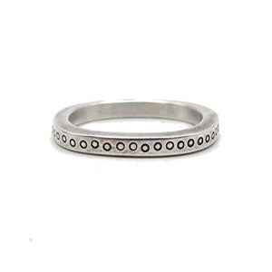Dotted Square Wire Ring