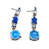 Virgin Mary Blue Earrings