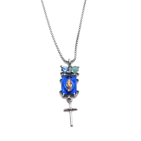 Mother Mary Sliding Charm Necklace
