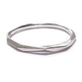 Thin Faceted Stacking Ring