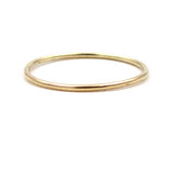 Gold Stacking Ring: Round Wire