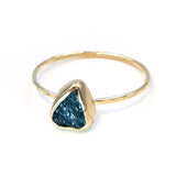 Gold Stacking Ring: Rough Blue Tourmaline