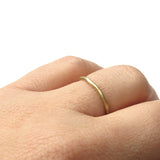 Tiny Gold Organic Wedding Ring