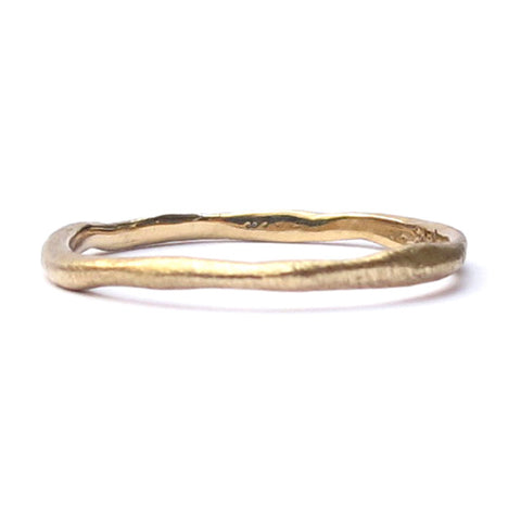 Tiny Gold Organic Wedding Ring Joanna Gollberg