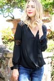 Black_Lace_Blouse_Bow_Tie_Free_Shipping_Unhinged_Boutique_Jupiter_Florida
