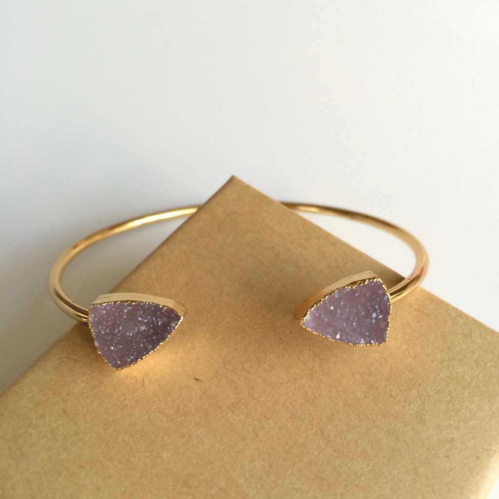 Dainty Druzy Bangle - Unhinged Boutique