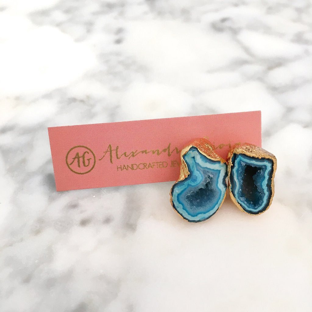 Geode Stud Earrings - Unhinged Boutique - Alexandra Gioia
