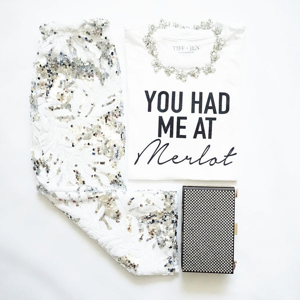 You Had Me at Merlot Tee - Unhinged Boutique