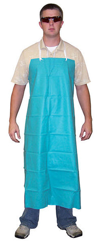 "River City Dominator 388R5 - Apron, .42mm PVC, 35"" x 48"", raw edges, aqua green"