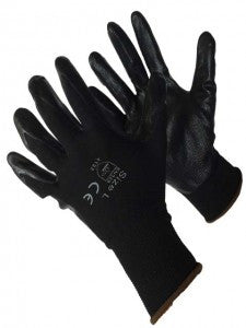Black Polyester Shell w/Black Nitrile Foam Coating