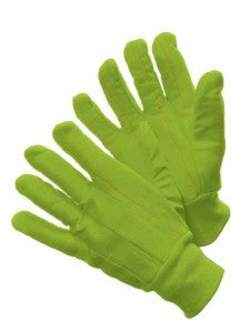 18oz. Double Palm, Poly/Cotton, Knit Wrist Gloves