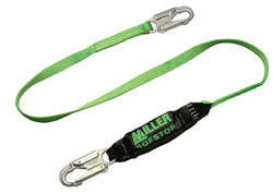 Miller HP Single Leg Adjustable Lanyard w/Sofstop Shock Absorber, 6'
