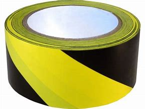 "Vinyl Tape Black & Yellow Stripes, Adhesive Back , 2""x 45yd"
