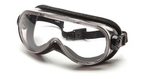 Pyramex Chemical Splash Goggle w/Foam Padding (Clear Anti-Fog)