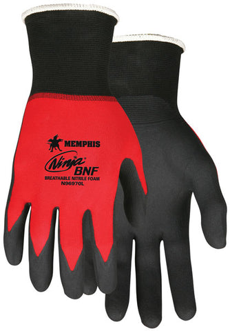 Memphis Glove Ninja BNF, 18 Gauge Red Nylon/Spandex Shell