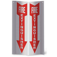 """Fire Extinguisher"" Arrow Angle Sign, 4"" x 18"""