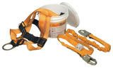 Titan Readyworker Fall Protection Kits w/a full-body harness (universal size) with back D-ring and tongue buckle leg straps and a 6 ft. shock-absorbing lanyard packaged in a waterproof bucket