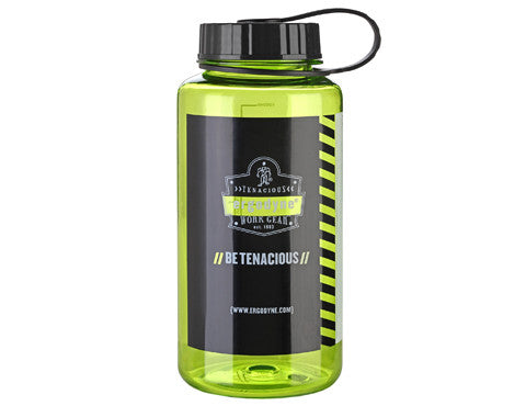 Ergodyne Wide Mouth Plastic Water Bottle (Lime)