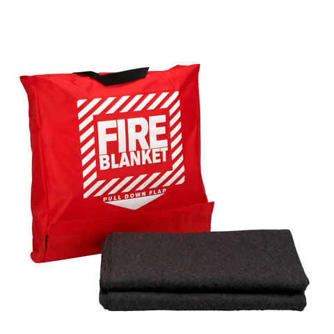"Wool Fire Blanket 62""x 80"" in Nylon Pouch"
